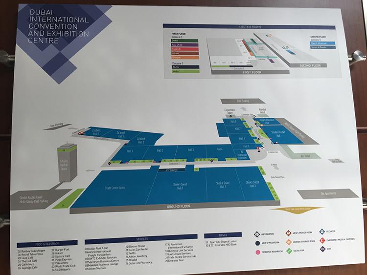 Hallenplan Messe Dubai