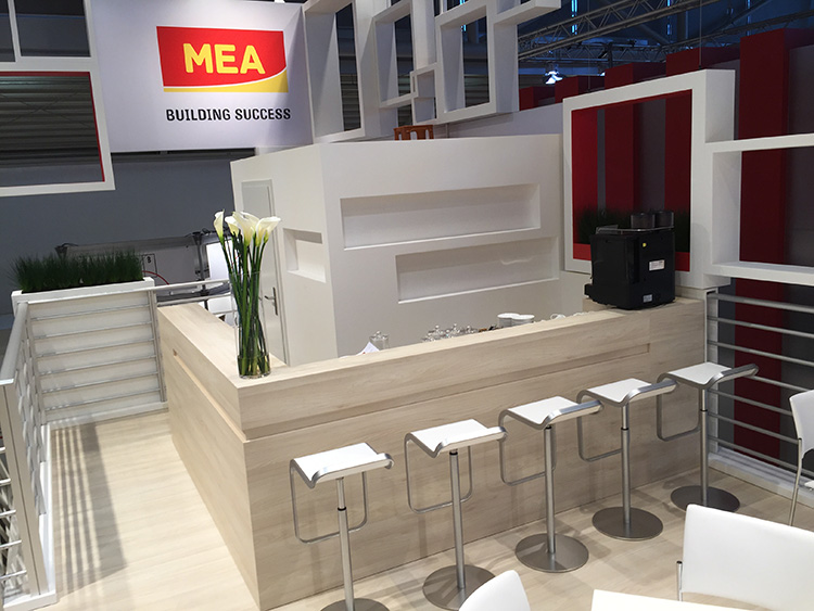 Messestand Catering Bar Stockstand