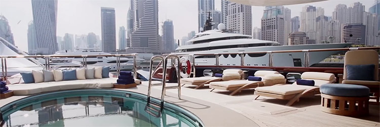 Messestand Messebauer Dubai international Boatshow Messe 750