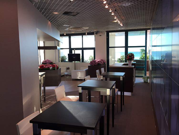 exhibition stand booth with sea view cannes