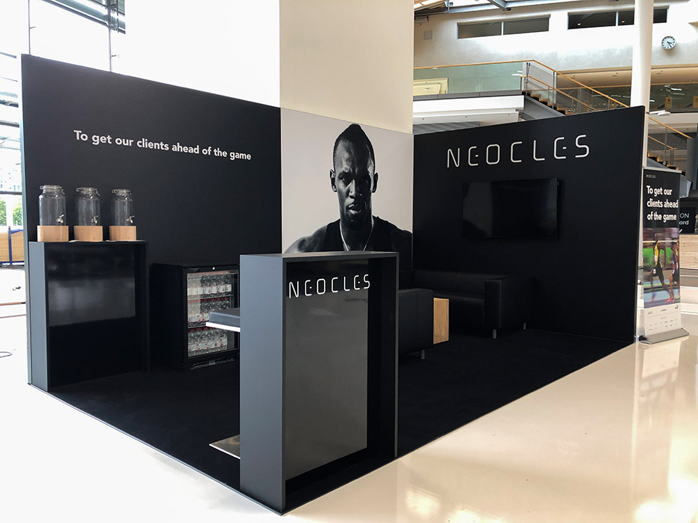 Messestand von NEOCLES auf der ISPO digitize im ICM München