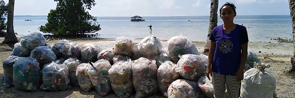 wir reduzieren plastik pro Quadratmeter Messestand