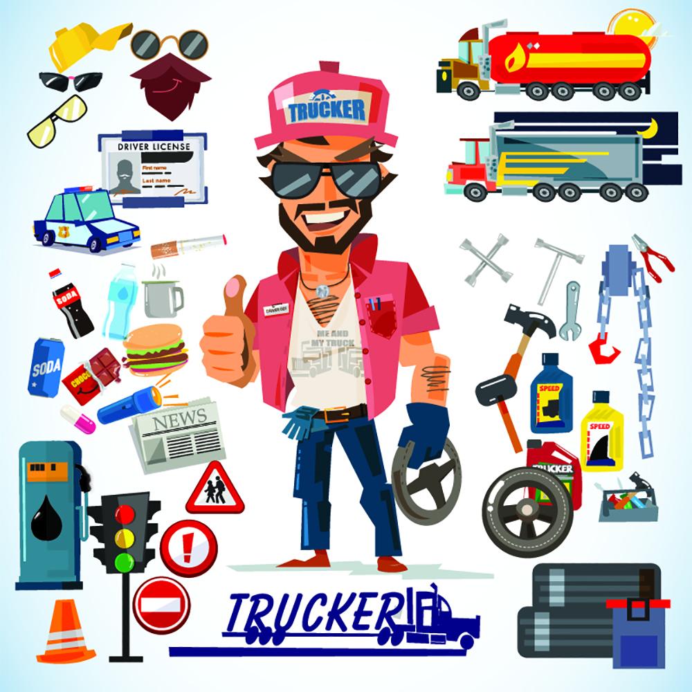 LKW Fahrer Trucker Job im Messebau Messebauer
