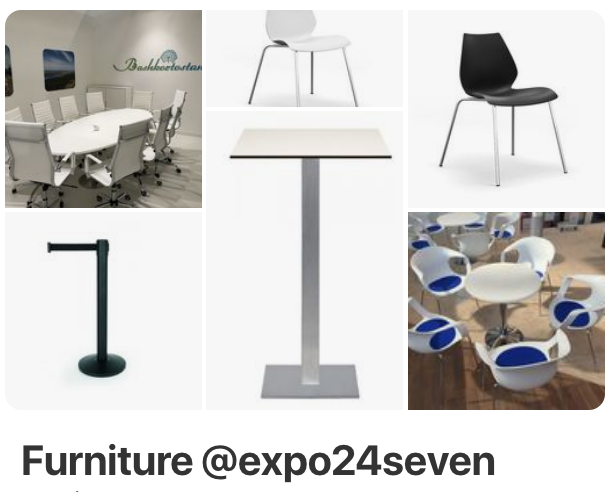 Mietmöbel der Firma expo24seven