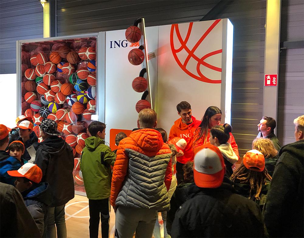 Sportsponsoring mit ING DiBa Messestand