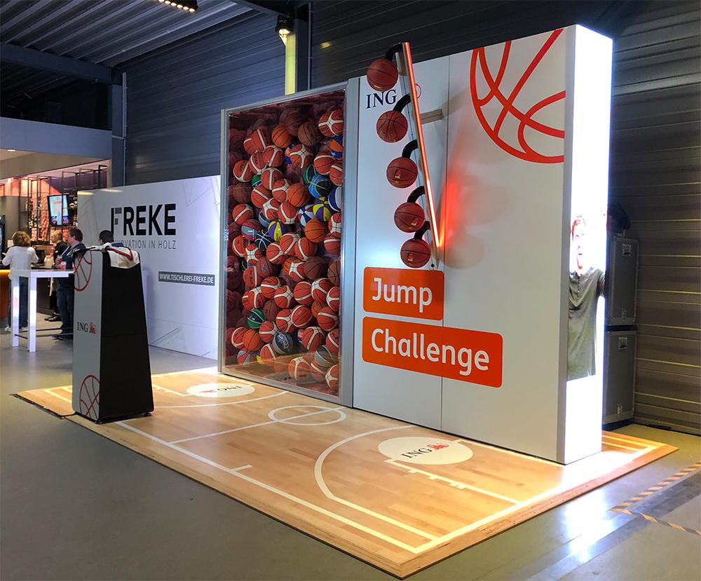 ING Jump Challenge Basketball Spiel Sonderanfertigung