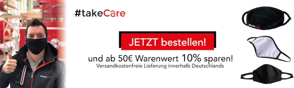 Mundschutz schwarz Baumwolle in Mainz kaufen