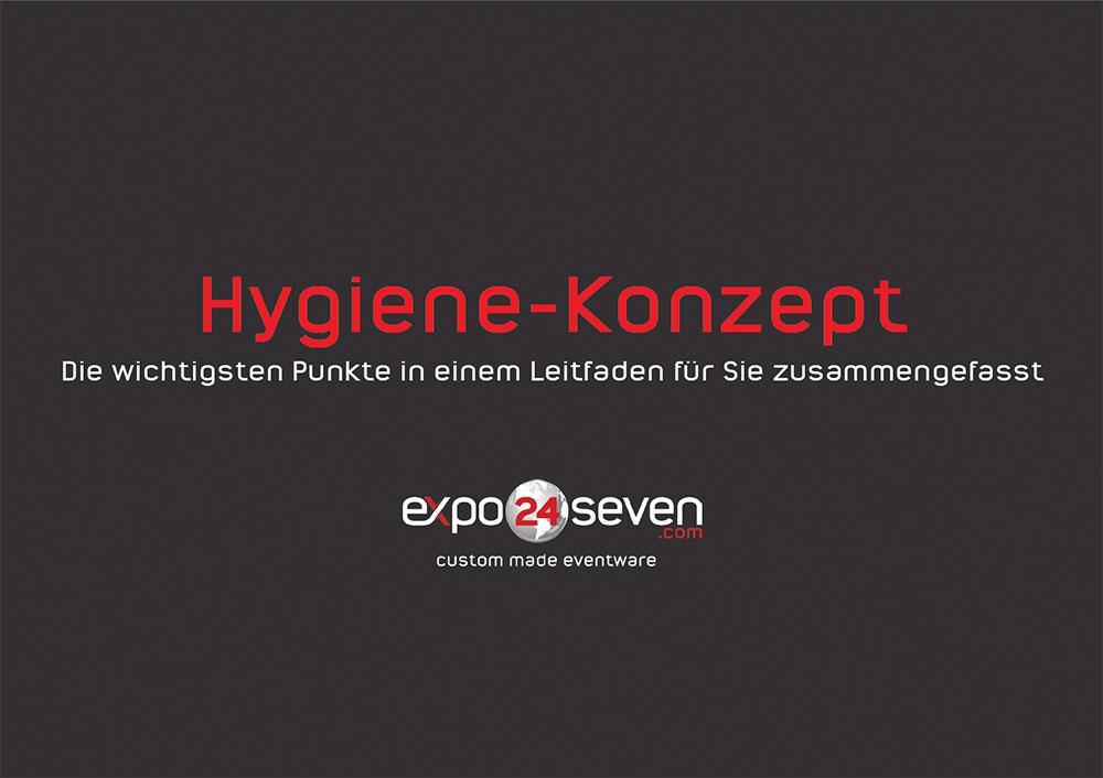 Deckplatt eines Hygiene Konzeptes für Messestände auf virtuellen Hybrid Messen